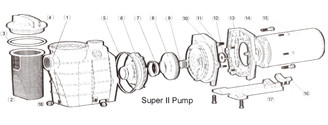 Hayward Super Pump II SP3000 Series