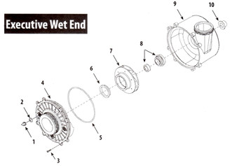 WATERWAY EXECUTIVE WET END - 48 & 56 FRAME PUMP PARTS