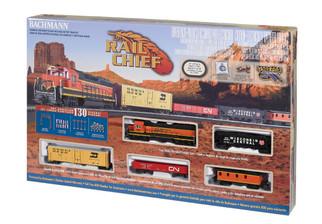 00706 HO Scale Bachmann Rail Chief Train Set