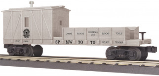 30-79571 O Scale MTH RailKing Crane Tender Car-Southern Pacific
