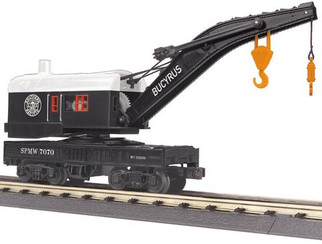 30-79570 O Scale MTH RailKing Crane Car-Southern Pacific