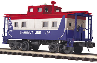 20-91626 O Scale MTH Premiere Steel Caboose Center Cupola-Pittsburg & Shawmut