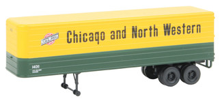 949-2403 HO Scale Walthers SceneMaster 35 Ft Trailer 2-Pack Chicago & North Western