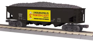 30-75613 O Scale MTH RailKing 4-Bay Hopper Car-Indianapolis Power & Light Car No. 12018