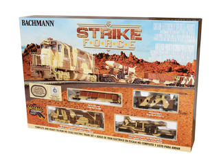 00752 HO Scale Bachmann Strike Force Train Set