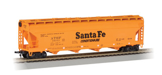 17502 HO Scale Bachmann 56' ACF Center-Flow Hopper Santa Fe (orange)
