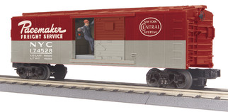 30-79632 O Scale MTH RailKing Operating Box Car w/Signal Man-New York Central Car No. 174528