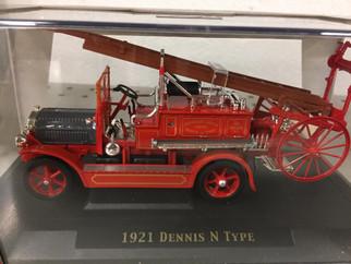43008 O Scale Yat Ming 1921 Dennis N Type Firetruck 1/43 Scale Die-Cast