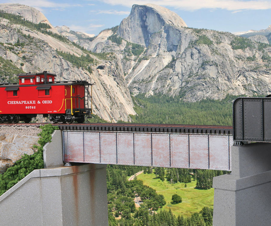 HO Scale Walthers Cornerstone 933-4501 50/' Single-Track Through Girder Bridge
