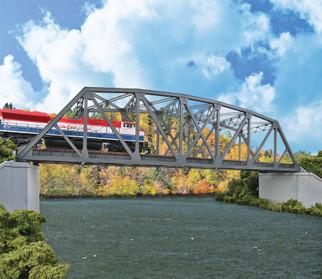 933-4522 HO Scale Walthers Double-Track Railroad Arched Pratt Truss Bridge Kit