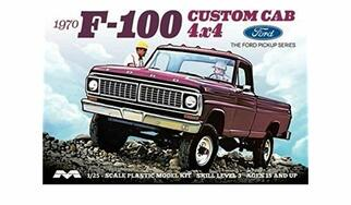 1230 Moebius 1970 F-100 Custom Cab 4x4 1/25 Scale Plastic Model Kit