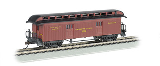 15302 HO Scale Bachmann Old-Time Baggage w/Rounded-End Clerestory Roof-PRR
