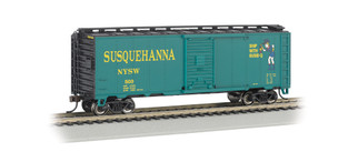 17001 HO Scale Bachmann 40' Box Car-New York, Susquehanna & Western(Suzy Q)