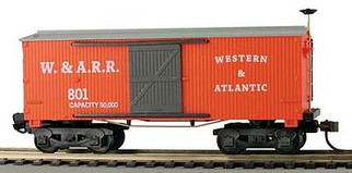721044 HO Scale Mantua 1860 Wooden Box Car-Western & Atlantic