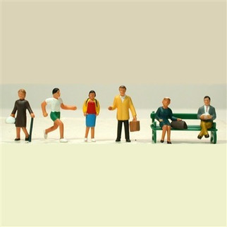 5705 HO Scale Model Power Town People-6 Pieces