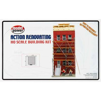 203M HO Scale Model Power Action Renovating Building Kit
