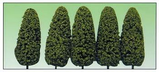 "1435 O Scale Model Power Architectural Trees (5 Pcs) 8""-Medium Green Spring"
