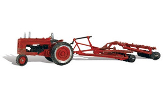 AS5564 HO Woodland Scenics Tractor & Disc