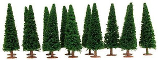 1425M HO Scale  Model Power Evergreen Trees 15/Pkg