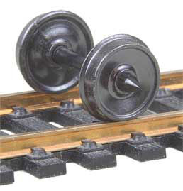 "522K HO Scale Kadee Code 110 36"" Smooth Back Freight & Passenger Metal Wheels(12 sets)"