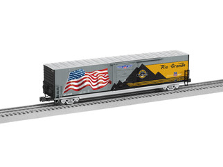 6-85405 O Scale Lionel DRGW Heritage LED Flag Boxcar #1989