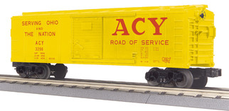 30-74961 O Scale MTH RailKing Box Car-Akron Canton & Youngstown #3296