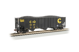 18744 HO Scale Bachmann Bethlehem Steel 100-Ton 3-Bay Hopper-Chessie System (C&O) #142315
