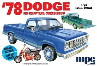 MPC901 MPC '78 Dodge D100 Pick-Up Truck 1/25 Scale Plastic Model Kit