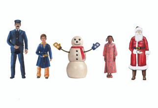 1830010 O Scale Lionel The Polar Express Snowman & Children People Pack