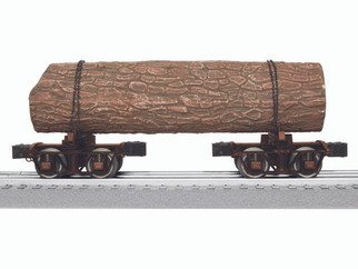 6-84166 O Scale Lionel Logging Disconnects (Single Pair)-Brown