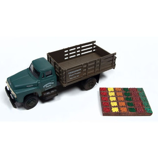 40000 HO Scale Classic Metal Works 1954 Ford Stakebed-Ferguson Farm Plus Fruit & Vegetable Crates