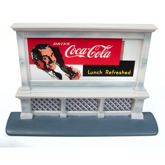 20233 HO Scale Classic Metal Works Outdoor Billboard-CocaCola