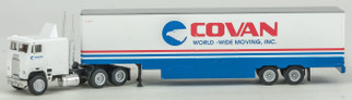 223-4001076 HO Scale Con-Cor Tractor w/Trailer Assembled-Covan Moving