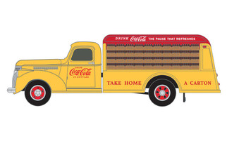 30562 HO Scale Classic Metal Works 1941-1946 Chevy Bottle Truck-Coca Cola
