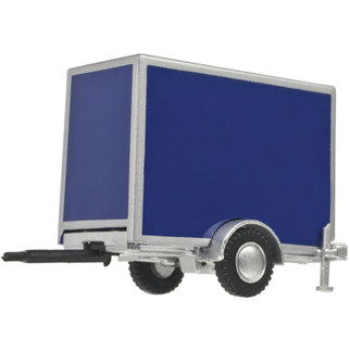60000102 HO Scale Atlas Box Trailer w/Single Axle-Blue
