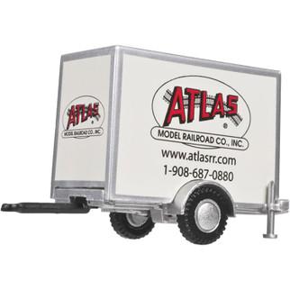 6000096 HO Scale Atlas Box Trailer w/Single Axle-Atlas Model RR Logo