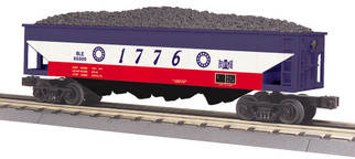 "30-75627 O Scale MTH RailKing 4-Bay Hopper Car-Bessemer & Lake Erie #6500 ""1976"""