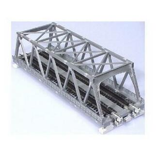 20-437 N Scale Kato Double Track Truss Bridge Silver