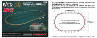 3-115 HO Scale Kato HV5 Unitrack Basic Oval Set