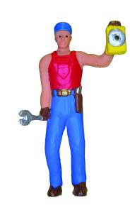 7000-1 O Scale Model Power Lighted Figure-Man w/Lantern