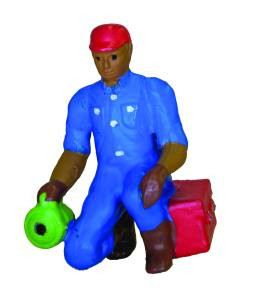 7001-1 O Scale Model Power Lighted Figure-Man w/Flashlight