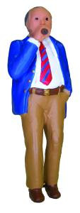 7002-1 O Scale Model Power Lighted Figure-Man w/Smoking Cigar