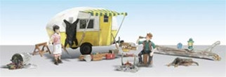 AS5341 Woodland Scenics N Scale Ma & Pa Trailer Haven