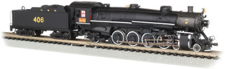 53452 N Scale Bachmann 4-8-2 Light Mountain Sound & DCC-Luisville & Nashville #406
