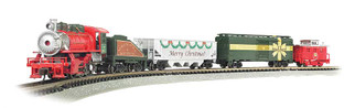 24027 N Scale Bachmann Merry Christmas Express Train Set
