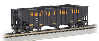18746 HO Scale Bachmann Bethlehem Steel 3-Bay 100-Ton Open Hopper-Wheeling & Lake Erie #606