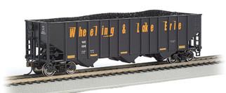 18746 HO Scale Bachmann Bethlehem Steel 3-Bay 100-Ton Open Hopper-Wheeling & Lake Erie #606