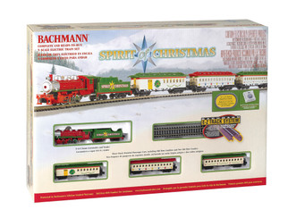 24017 N Scale Bachmann Spirit of Christmas Train Set
