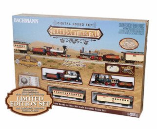 00827 HO Scale Bachmann Transcontinental w/Digital Sound Train Set