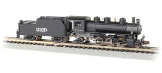 51555 N Scale Bachmann Prairie 2-6-2 & Tender Standard DC-Santa Fe #2129